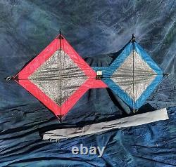 Vintage Tetrad Quad 4 Line Stunt Kite 69x36 In Mint Condition With Instructions