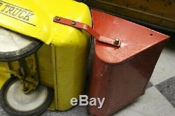 Vintage Thistle Rocket 30 Pedal Car Dump Truck Made In Canada Pressed Steel