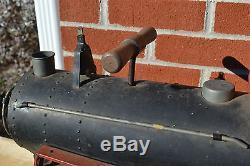 Vintage Toy Keystone Railroad R. R. 6400 ride on train Pressed Steel