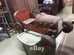 Vintage Toy Pedal Car, Racing Car Style