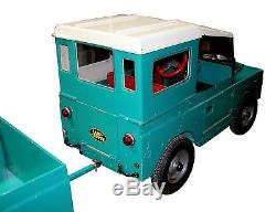 Vintage Toylander Ride-On Land Rover Toy with Bed Cover & Detachable Trailer