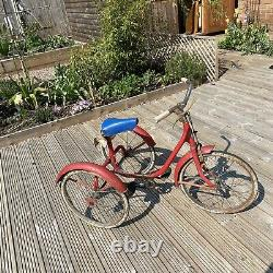 Vintage Triang Tricycle 1948 1940s Cycle Trike Red Runner Supermom Saddle