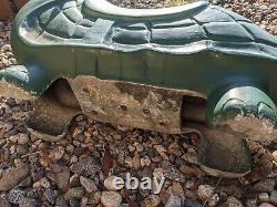 Vintage Turtle Playground Park Cast Aluminum Spring Ride On
