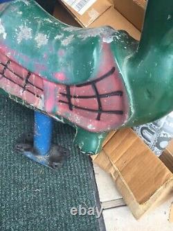 Vintage Turtle Playground Park Cast Aluminum Spring Ride On Nice Original