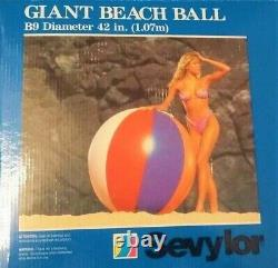 Vintage VERY RARE LAST ONE Giant 54 Deflated 8 Panel Sevylor Jumbo Beach Ball