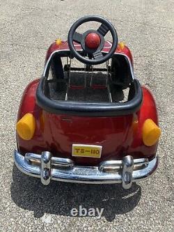 Vintage VW Red Beetle Junior Sportster Metal Pedal Car TS-110 Rare Volkswagen