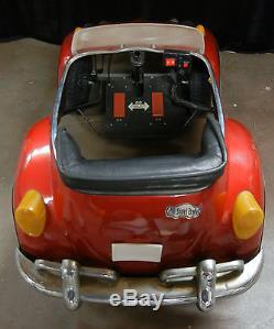 Vintage Volkswagen Red VW Bug Beetle Pedal Car AS-IS NOT WORKING