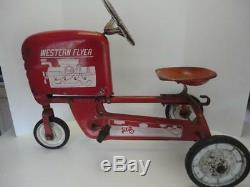Vintage WESTERN FLYER TRACTOR E-492 Chain Drive Pedal Car 100% Original