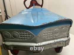 Vintage Western Flyer Pedal Car Blue Ball Bearing