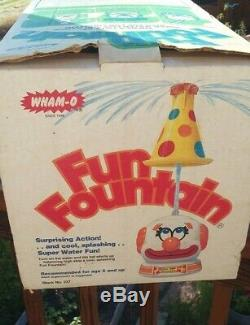 Vintage Wham-O Fun Fountain 1978 Clown Sprinkler Made USA- Original Box-HTF