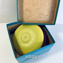 Vintage Wham-o Mini Frisbees Red, Blue Yellow, Box & Instructions
