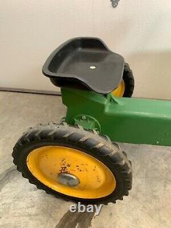 Vintage Working Ertl John Deere 520 Cast Aluminum Chain Pedal Tractor USA