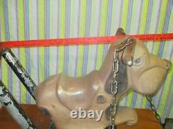 Vintage cast aluminum playground dog swing toy could renovate to spring toy