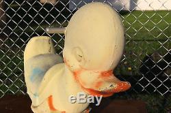 Vintage cast aluminum playground ride on spring duck Saddle Mates Animal