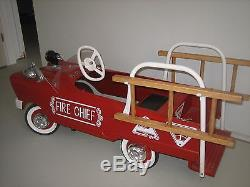 Vintage pedal Fire Truck