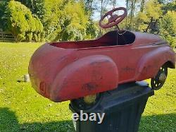 Vintage pedal car 1938-1940 Steelcraft pedal car RARE Oldsmobile-FireTruckAS IS
