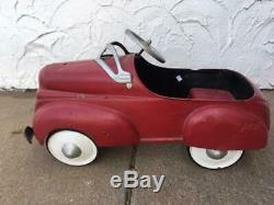 Vintage pedal car, 1940's Steelcraft pedal car