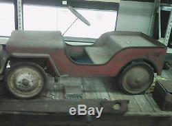 Vintage pedal car Jeep RARE