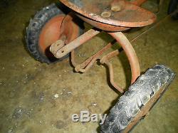Vintage pedal farm tractor
