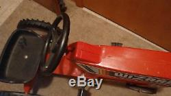 Vintage pedal tractor child kids Wizard Western Auto Stores