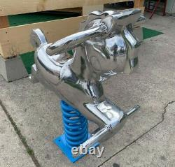 Vintage playground spring rider horse mirror polished (Saddle Mate style) RARE