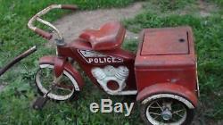 Vintage tricycle police trike 1960's