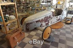 Vintage wooden soap box derby car