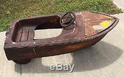 Vtg 1950's Kids Ride-On Toy Pedal Boat/Car Murray Dolphin Hard To Find Rare