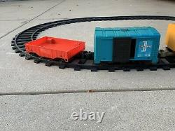 Vtg 1970 Remco Mighty Casey Ride-on Train Set Battery-operated, 10 Track Oval