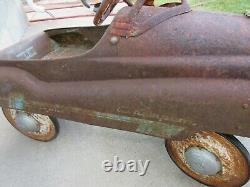 Vtg Murray Champion Metal Blue Pedal Kiddie Car Jet Flow Drive Unrestored 50s