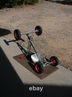Vtg Only 1 On eBay Push Pull Steel Metal Row Cart Pedal Car Antique Kid Toy Kart