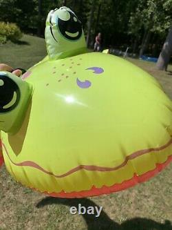 Vtg RARE 2006 Intex BIG 6' Lizard Gecko Ride On Inflatable Float Pool Toy