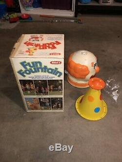 Vtg Wham-O Fun Fountain CLOWN HAT SPRINKLER SPINNING HAT WithBox TESTED GREAT