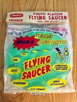 Wham-o Frisbee 1958 New In Bag Collectible Pluto Platter Flying Saucer Vintage