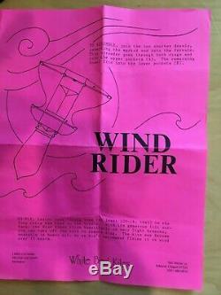 White Bird Firebird Kite Vintage, Pristine, Autographed and Initialed RARE