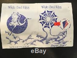 White Bird Super Star Kite Vintage, Pristine, Autographed RARE