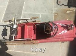 Working VINTAGE GEARBOX JET FLOW DRIVE FIRE TRUCK PEDAL CAR # N-287