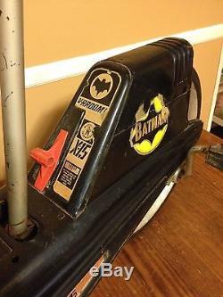 X-15 Batmobile Vintage Paddle Car Cycle Rare Batman Toy Mattel Vrroom